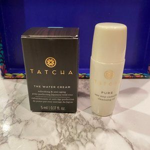 TATCHA 2pc Travel Water Cream & Pure Cleansing Oil